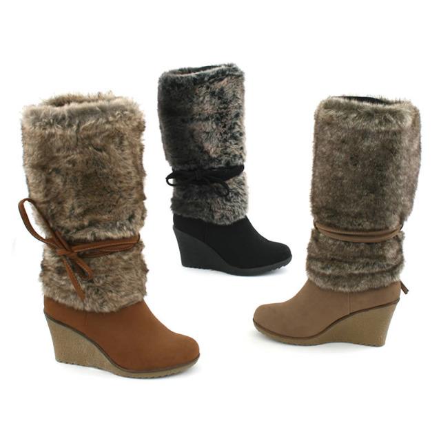 Damen Fell Stiefel Schuhe Gr. 36-41 je 12,95 EUR