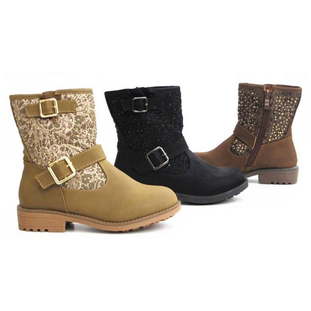 Kinder Mädchen Stiefel Schuhe Boots Gr. 25-30