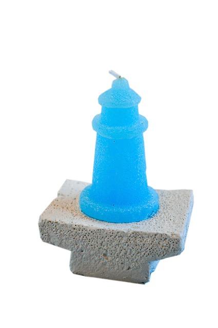 maritime 3 kerzen auf stein blau deko urlaub strand geschenk auf. Black Bedroom Furniture Sets. Home Design Ideas