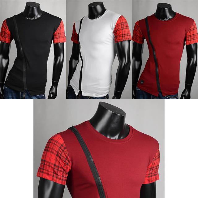 Herren Freizeit Sport T-Shirts Kurzarm Oberteile