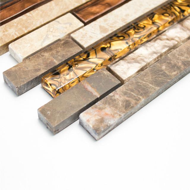 fliesen glas mosaikfliese marmor braun beige naturstein mosaik 8mm neu 004 auf. Black Bedroom Furniture Sets. Home Design Ideas