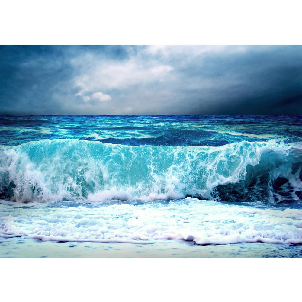 vlies fototapete premium plus wand foto tapete wand bild vliestapete blue seascape ozean. Black Bedroom Furniture Sets. Home Design Ideas