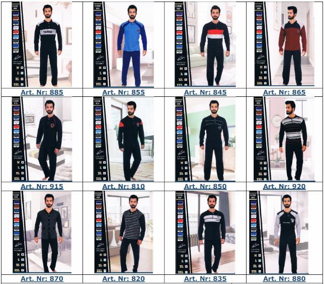 Herren Schlafanzüge aus 100% Baumwolle
