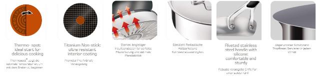 tefal e79204 jamie oliver bratpfanne servierpfanne 24cm induktion auf. Black Bedroom Furniture Sets. Home Design Ideas