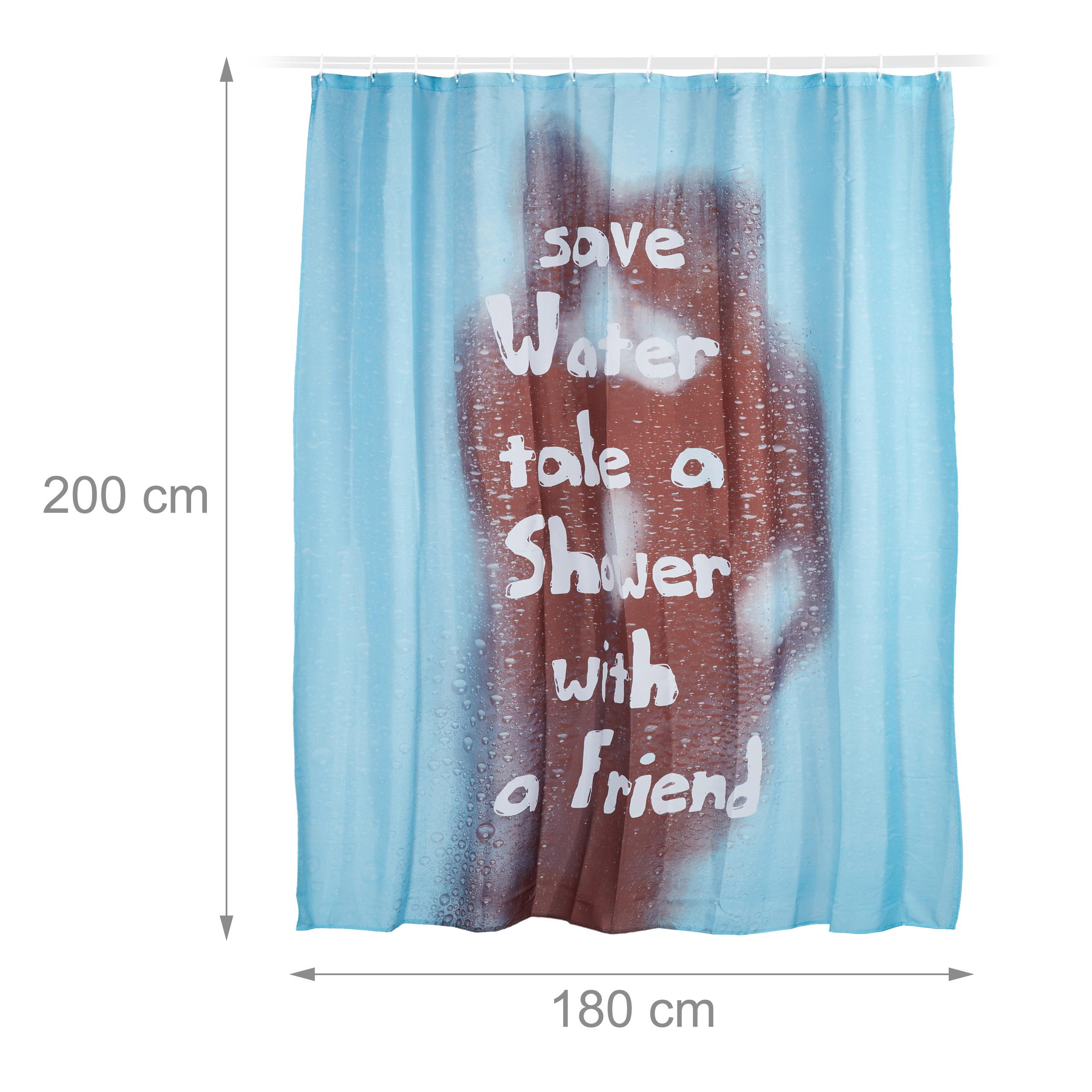 duschvorhang t rkis save water auf. Black Bedroom Furniture Sets. Home Design Ideas