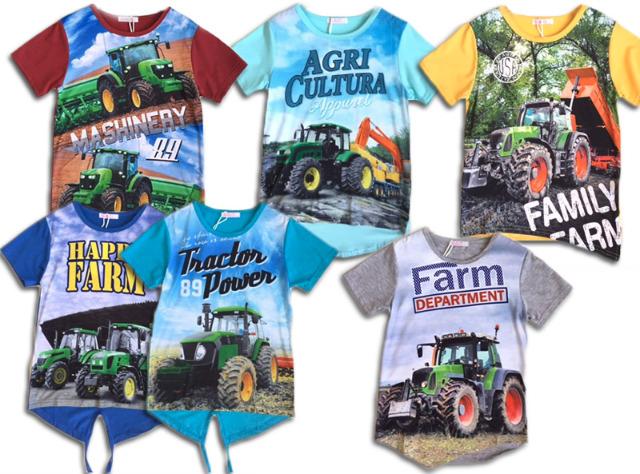 Kinder Jungen Kids Trecker Traktor Bauer T Shirt Shirt Oberteil
