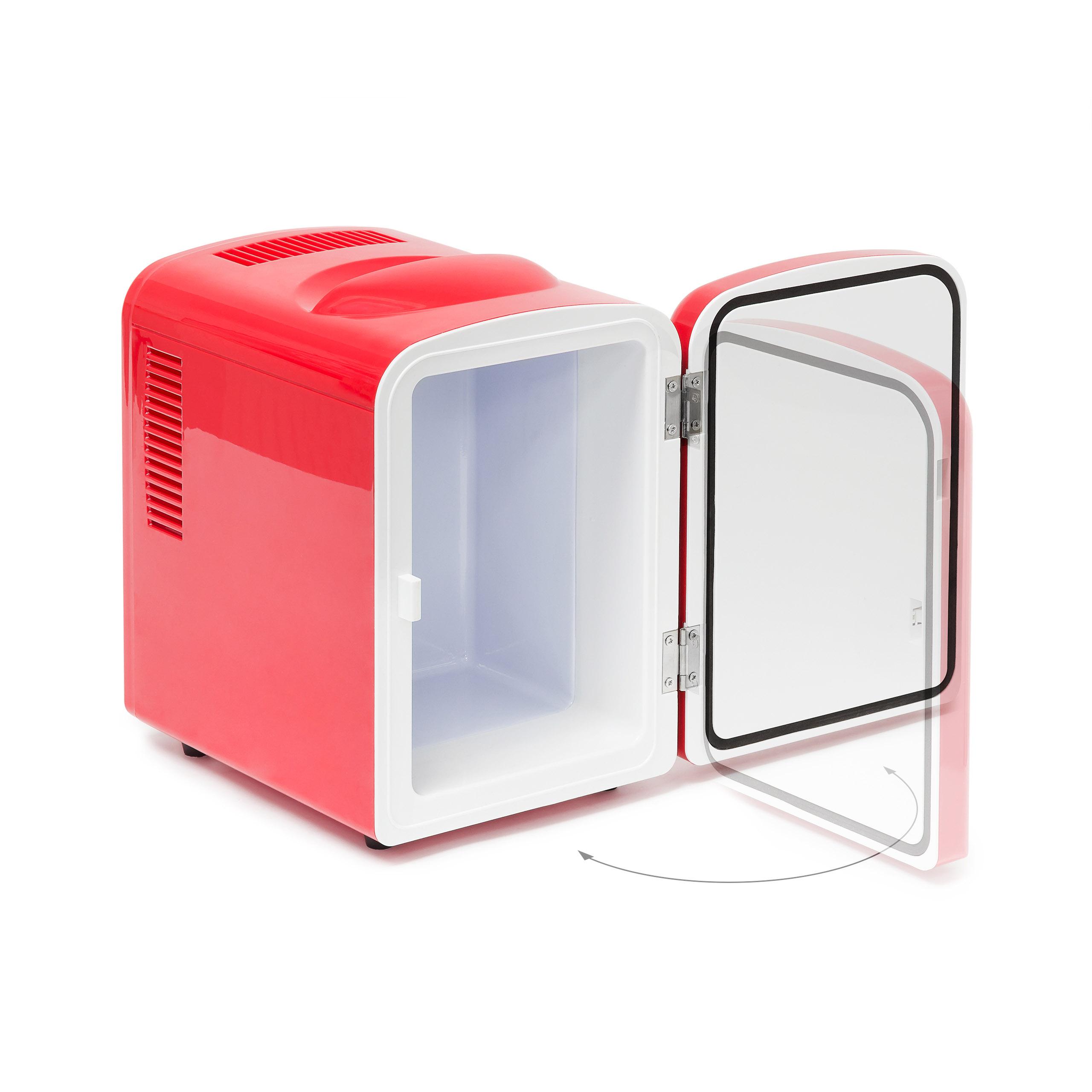 mini k hlschrank rot 4 liter auf. Black Bedroom Furniture Sets. Home Design Ideas