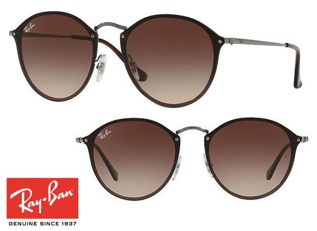 13bd147a55d2ba Topmodische Ray-Ban Blaze Round RB3574N Sonnenbrille Braun Unisex ...