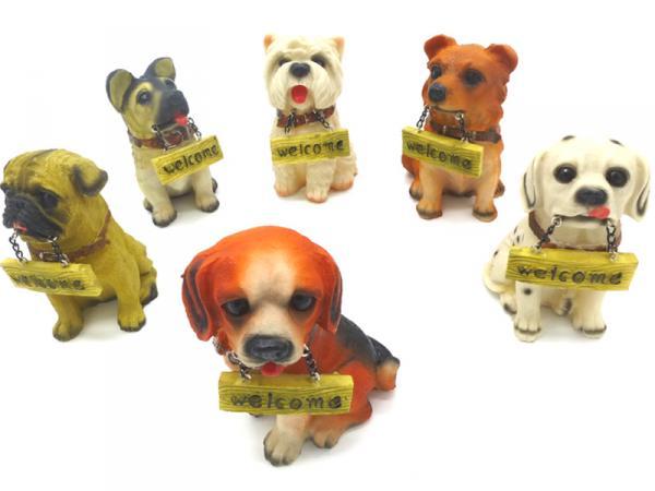 Tierfigur Deko-Hund aus Polyresin Hoehe 14cm auf grosshandel.eu