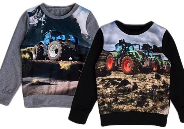Kinder Jungen Pullover Traktor Bauer Farmer Langarmshirt Sweatshirt