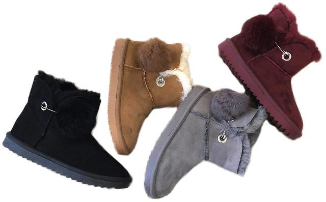 Outdoor Fell Stiefeletten Trend Boots Damen Puschel Bommel 1cuJ3TlFK5