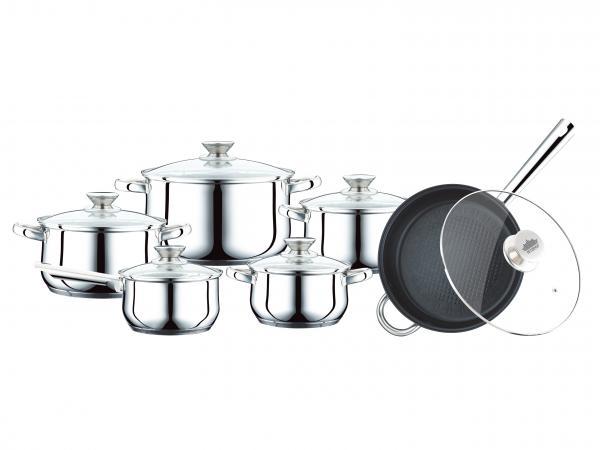 Batterie Cuisine Inox | Peterhof Ph 15799 Batterie De Cuisine De Inox S S 12st Auf