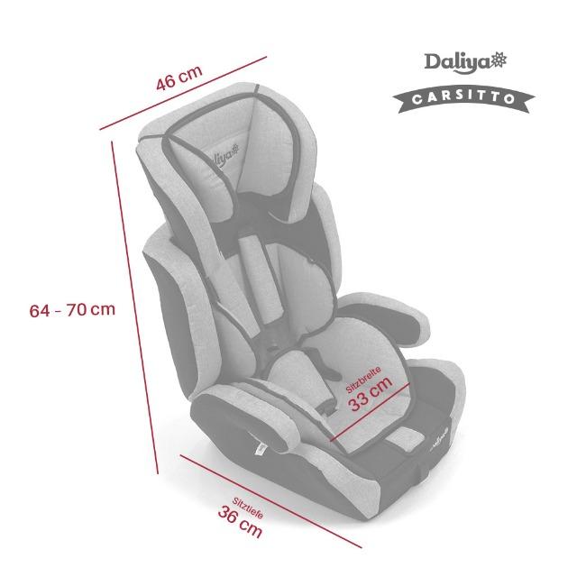 Daliya Autokindersitz Autositz Kinderautositz 9-36kg Gruppe 1+2+3 ECE R 44//04