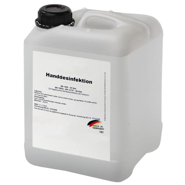 Handdesinfektionsmittel 10.0 Liter Kanister ohne Alkohol * Desinfektion für Hände * gemäß WHO Empfehlung