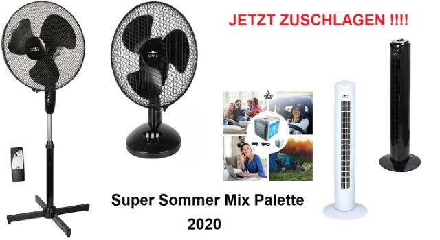 Ventilatoren Klimageräte Standventilatoren Turmventilator Air Cooler Super Sommer Mix Palette Restposten NEU A Ware mit Garantie Top 999 Eur